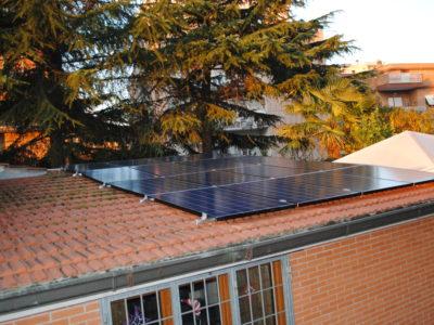 Impianto fotovoltaico in abitazione a Roma