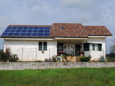Impianto fotovoltaico in villa a Ferentino (Frosinone)