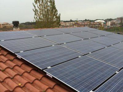 impianto fotovoltaico in villa a Roma